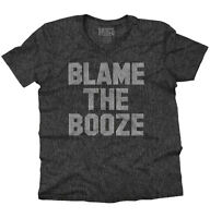 Blame It On The Booze Funny Drinking Drunk V-Neck Tees Shirts Tshirt T-Shirt
