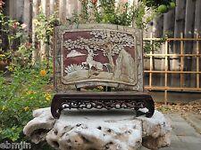 425. Antique Carved  Gold Gilt Wood Panel  w/ Foo Gog