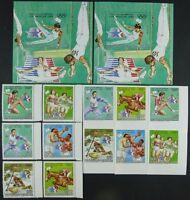 543/Space Raumfahrt 1983 Tschad Chad Olympics 992-97 + Bl.178 A/B Perf Imperf