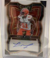 2019 Select Mack Wilson Rc Auto White #06/35!! Cleveland Browns Rookie! Nice!!