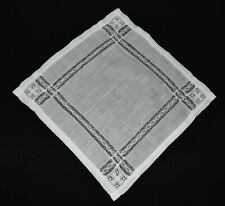 vintage wedding handkerchief Something Old lace inserted stripes Hold History