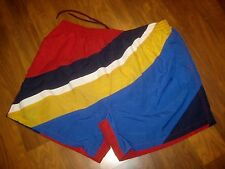 Vtg Sailing Nautical Flag Mens XL Colorblock Swim suit chubbies trunks shorts XL