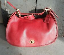VTG COACH #9338 RED LEATHER LEGACY FLAP CROSSBODY SHOULDER BAG