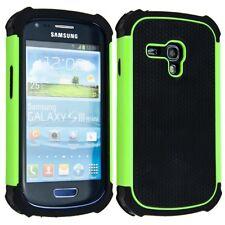 Hybrid Schutz Hülle für Samsung Galaxy S3 Mini Grün Schwarz Case Cover TPU