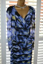 ~ GOLD BY MICHAEL H ~ Blue Mix Dress & Bolero Size 20 Suit Mother of the Bride