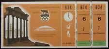 1960 ROME OLYMPIC GAMES TICKET WEIGHTLIFTING SOLLEVAMENTO PESI ORIGINALE