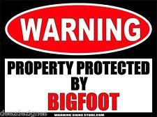 Bigfoot Funny Sasquatch American Myth Warning Sign Bumper Sticker Decal WS225