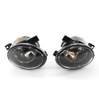 Left Right Front Bumper Convex Lens Fog Light Lamp for VW Jetta Golf MK6 09-17