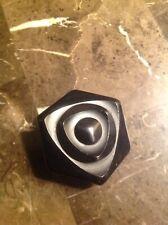New listing Vintage Black Bakelite Octagon Carved Button Deep Design # 23