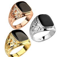 Mode Herren Band Ring Silber Gold Plattiert Top Zirkon Rings Gr.17 18 19 20 21