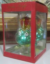 Christopher Radko Sparkle Bright Royal Frog Hand-Painted Christmas Ornament