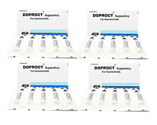 DOPROCT 10 Suppositorie for Hemorrhoids Treatment (Pack of 4=40 units)