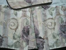 Croscill Queen Chambord Bed Skirt And Std. Padded Sham Purple Roses Sell As Is