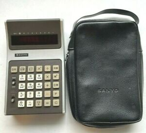 Vintage Sanyo Model CZ-8100 CZ8100 Calculator & Case