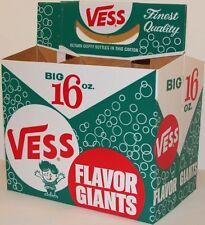 Vintage soda pop bottle carton VESS FLAVOR GIANTS boy pictured unused n-mint+