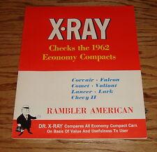Original 1962 Rambler X-Ray Economy Compacts Comparison Sales Brochure 62 AMC