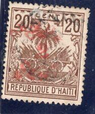 Haiti Scott # 44b - used -  double surcharge