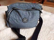 Kipling Breezer Across Shoulder Bag In Denim Blue Jean  Fluffy Monkey