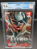 Thor #1 CGC 9.6 (2014) Marvel - 1st Jane Foster as Thor