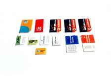 Lot of 12 Various Carrier Sim Cards At&T Verizon Untested Super Fast Shipping