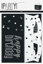 BLACK & SILVER GLITZ Party Box, 6ct