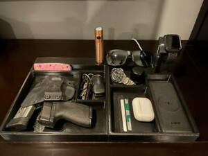 16x10 Valet tray EDC dump tray with Watch charging stand Olight docks