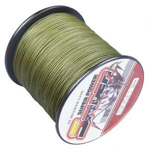 Spider 100M-2000M Army Green Super Dyneema Braided Fishing Line Wire 6LB-300LB