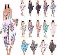 New Womens Ladies Sleeveless Legenlook Cami Jumpsuit Romper Baggy Playsuit 8-26