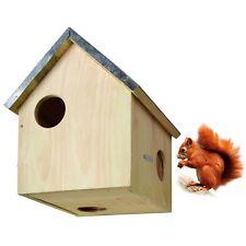Nistkasten Eichhörnchen Kobel Holz Zinkdach Eichhörnchenhaus Haus - NEU