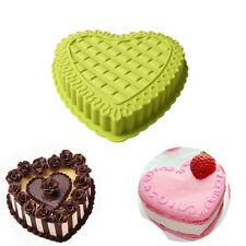 1Pc Large Heart Shape Silicone Cake Muffin Bread Pastry Baking Mold Pan Bakeware