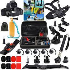 27pcs Cámara Accesorios Lote Kit para GoPro Hero 4 5 Negro Sesión 3+3 Sjcam