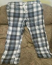 Sonoma Life Style men's thick flannel plaid pajama lounge pants L drawstring