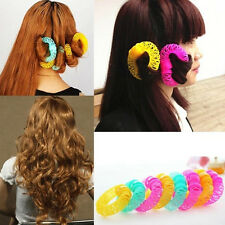 8Pcs Women Magic Hair Curler Spiral Curls Roller Donuts Curl Hair Cosmetic Set