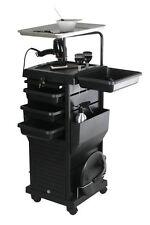 Chromatique Pro Lockable Rollabout Station W/ Tray Trolley Salon Equipment 100D
