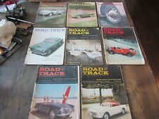 Road & Track Magazine Vintage Car Automobile Lot of 8 1959 Year