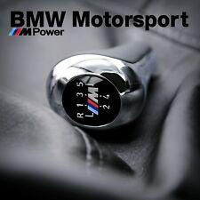 BMW M Gear Shift Knob Leather Chrome 3 5 Series E46 E36 Z3 E39 E53 25112492481