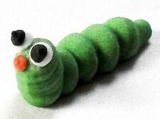 12 Royal Icing Caterpillars sugar pipings edible cake topper decorations 3cm
