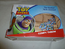 NEW IN BOX DISNEY PIXAR TOY STORY COMFY THROW BLANKET W SLEEVES NIB BUZZ FLEECE