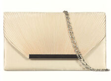SILVER GOLD BLUE IVORY PURPLE Pleated Satin Clutch Evening Handbag #A83 --SALE!
