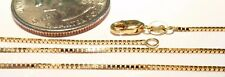 14kt Pure Solid Gold Short 13 inch .8MM BOX CHAIN w/LOBSTER LOCK.... GUARANTEED!