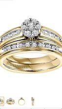 14K Keepsake Gracious 1CTW Diamond Bridal Set (Size 5)