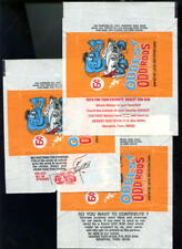 LOT 3 1970 Donruss Oddest Odd Rods Card Wax Pack Wrapper Complete Set Rod