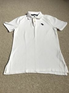 Boys White Abercrombie Polo Shirt Aged 9-10