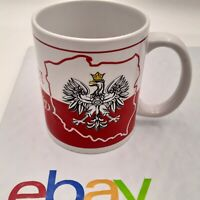 Polska POLAND Polish Red White Ceramic Coffee Mug Cup Crest Logo