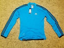 Men`s ADIDAS Cycling Jacket Jersey Shirt Full Zip Long Sleeve Size M