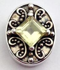 Authentic Lori Bonn Bons Sterling Silver Mellow Yellow Charm 29938OV, New