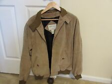 Orvis Suede Leather Harrington Jacket Med Beige Tan Baracuta Bomber