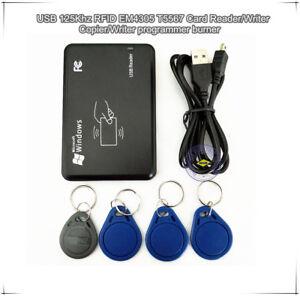 USB 125Khz RFID EM4305 T5577 Card Reader/Writer Copier/Writer programmer burner