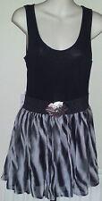 Mini Striped Sleeveless Chiffon Dresses for Women