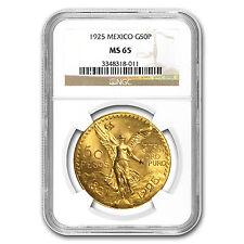 1925 Mexico Gold 50 Pesos MS-65 NGC (Registry Set)